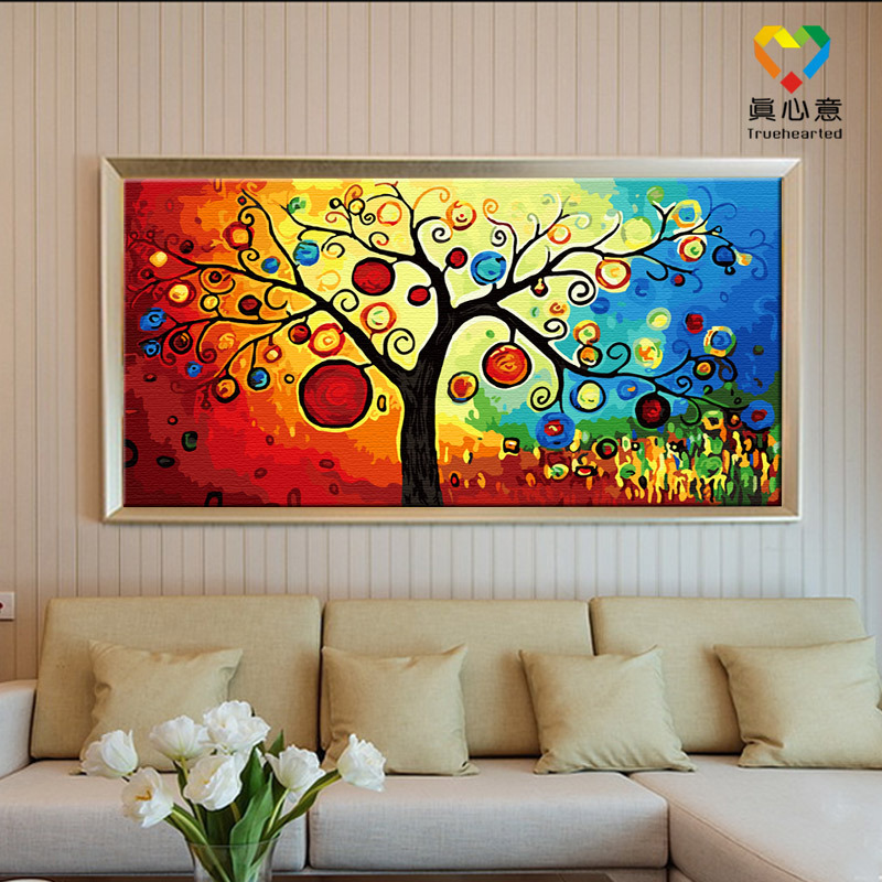Buy diy painting by number kits landscape oil painting home decorative picture - Decorative paintings for living room ...