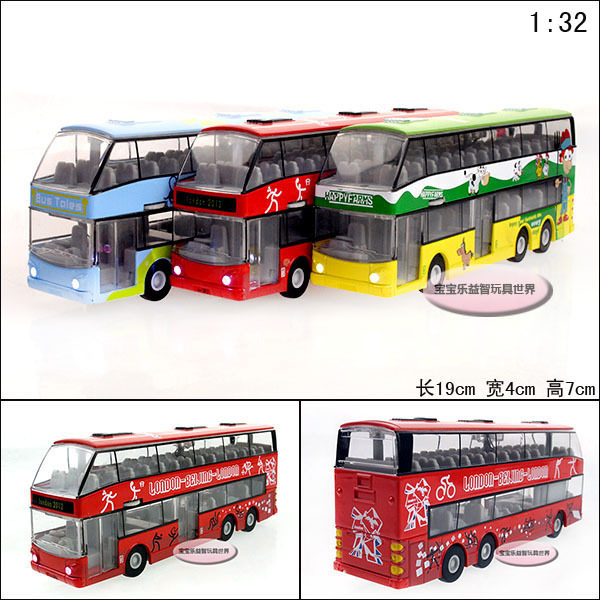 Free  shipping Luxury tourist bus exquisite alloy acoustooptical alloy car model