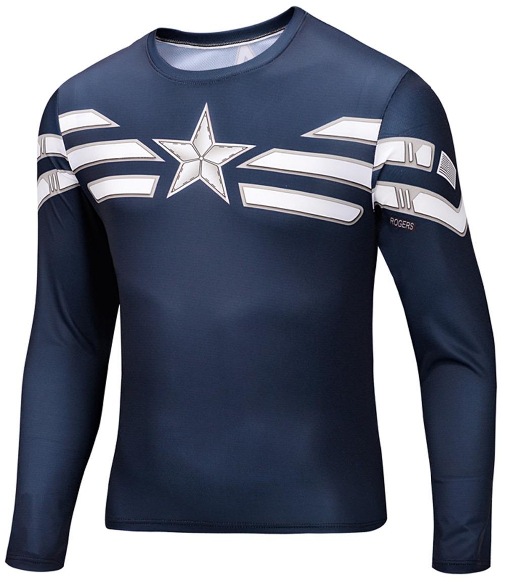 3d T Shirt Animal Tshirt Sports Shirts Mens Long sleeve Fashion 2015 Print O-neck Captain America Superman Star Wars Skateboard(China (Mainland))