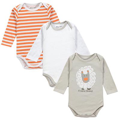 Fantasia Infantil Baby Long Sleeve 3PCS LOT Bodysuits100 Cotton Baby Clothes Jumpsuit Cartoon Printed Winter Romper