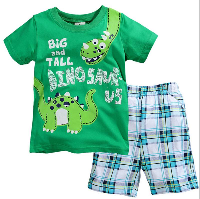 Clearance Boys Clothes Summer Beach Suit Cotton Baby Boy Clothes Set T-shirt+Short Pant 2pcs Kids Clothes Children Clothes(China (Mainland))