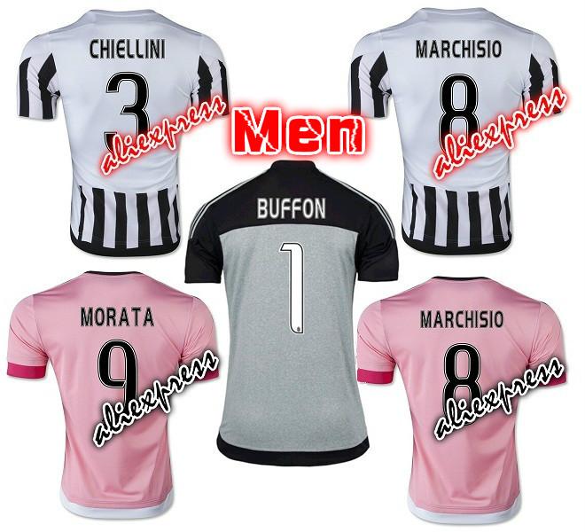 2016 inter milan Home away pink POGBA soccer Jersey 15 16 MACHISIO MORATA mandzukic Football Shirt(China (Mainland))