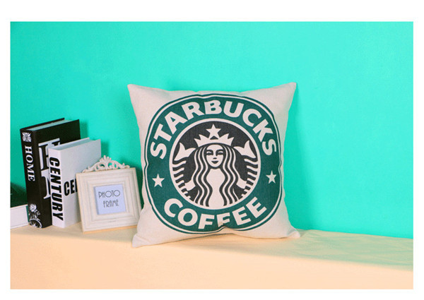 Contemporary contracted European American wind creative starbucks cotton linen pillow Hold case - Love Beautiful SAMMI store
