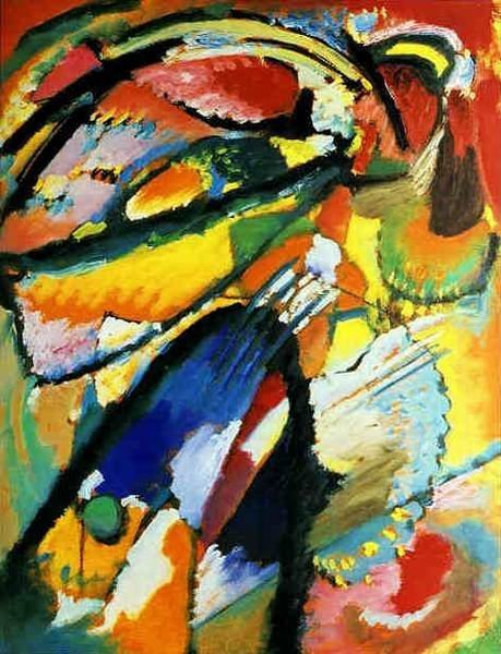 Angel of the Last Judgment 1911 Wassily Kandinsky 100% Hand Painted Oil Painting Repro Museum Quality Gift