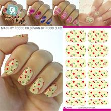New Water Transfer Foil Nail Art Sticker Pink Fruit Design Nail Sticker Manicure Decor Tool Finger Nail Wraps Decal Patch