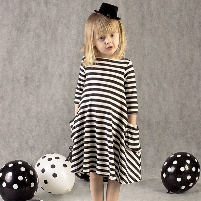New autumn girls dresses stripe kids dress children casual long sleeve dress children dresses girls(China (Mainland))