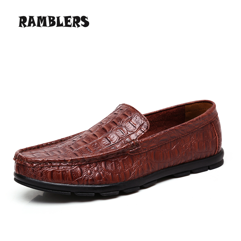 Plus Size 38-46 Men Loafers Luxury Genuine Leather Flats Shoes Mocassin Man Dress Shoes Casual Driving Shoes Zapatos Hombre<br><br>Aliexpress
