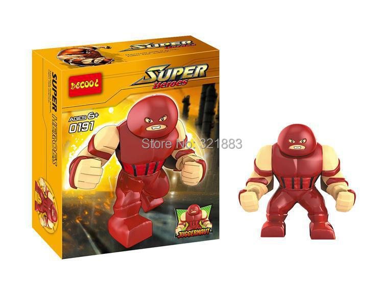 Decool191 super hero Marvel X Men big juggernaut minifigures block toys Building Block bricks action figures Toys - F & C Store store