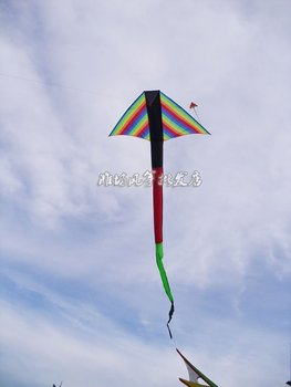 promotional kite,new 6m long tail 3D rainbow kite,wholesale, high quality and fast service,free shipping