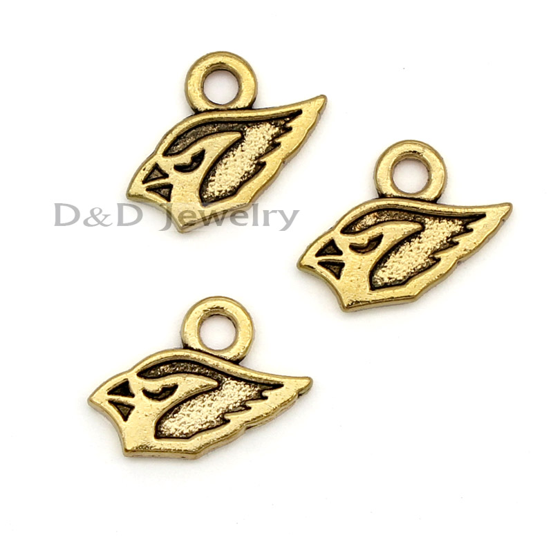40pcs/lot--Antique Gold Arizona Cardinals team logo Charm Pendants, Football Sport Team charms 23x18mm(China (Mainland))