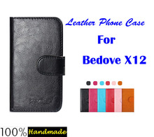 Bedove X12 Case,6 Colors Luxury Flip Leather Customized Phone Case Cover For Bedove X12 Cover with Card Holder in stock.(China (Mainland))
