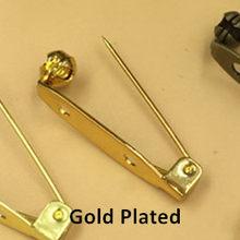 Boyute 100 Pcs 15 Mm 28 Mm Panjang Logam Jarum Kuningan Aksesoris Perhiasan DIY Tangan Terbuat Peniti Bros Dasar(China)