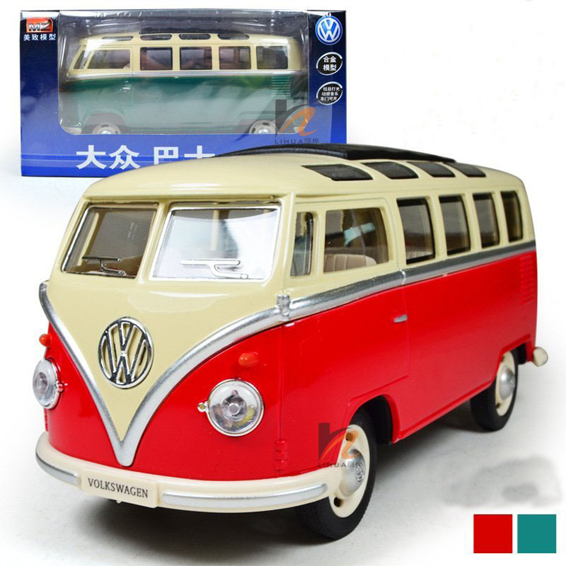 Free shipping Volkswagen VW Bus 1:24 Alloy Diecast Models Car Toy Collection For Boy Children As Gift Toys Brand New(China (Mainland))