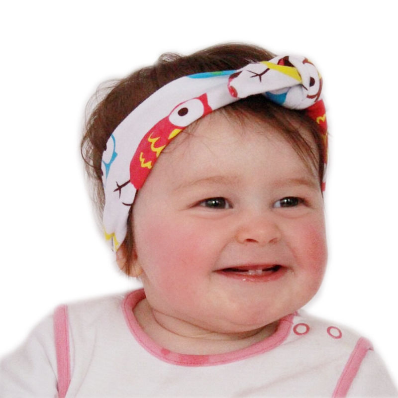 1PC DIY Baby Girls Bow Animal Print Headband Rabbit Ear Turban Knot Leopard Hairband Camo Head Wrap Owl Hair Band Accessories(China (Mainland))