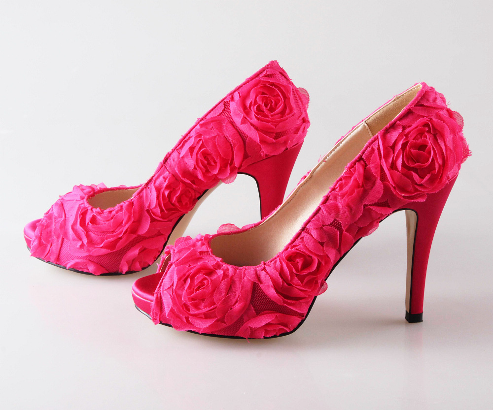 purple high heel shoes wedding