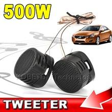 Universal High Efficiency 2x/lot 500W Car Mini Dome Tweeter Loudspeaker Loud Speaker Super Power Audio Auto Sound Klaxon Tone(China (Mainland))