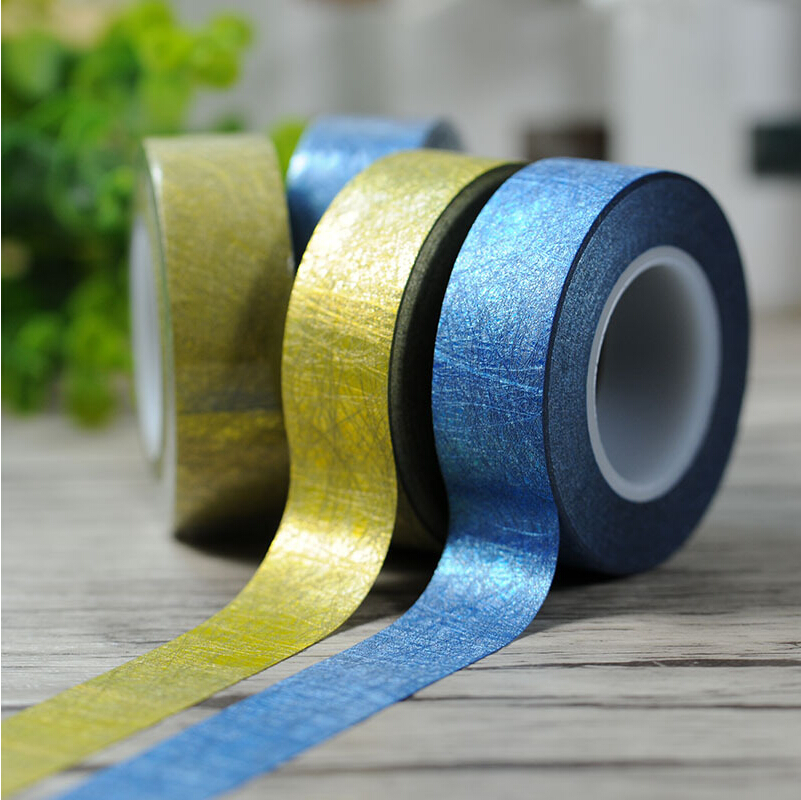 High Quality 15 meters Craft Glitter Golden Washi Tape Decor DIY Scrapbooking Adhesive Paper Sticker Gift Packing<br><br>Aliexpress