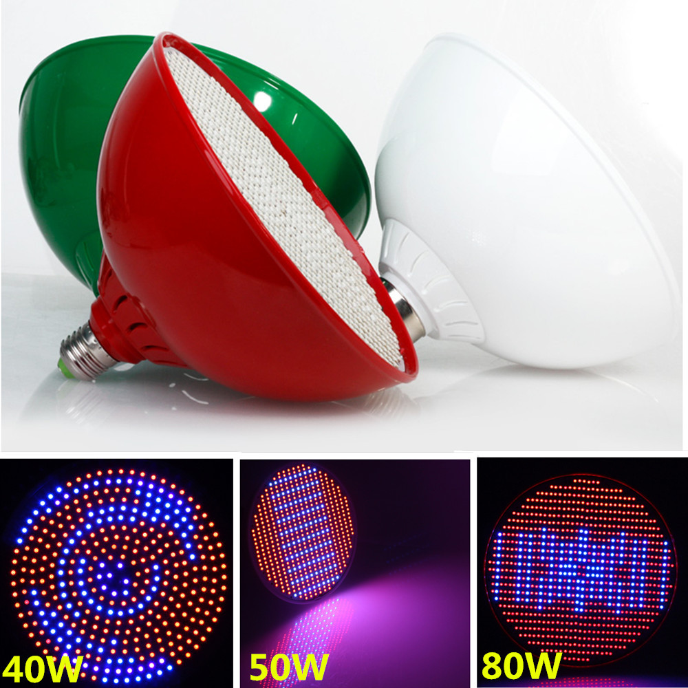 Гаджет  E27 40W/50W/80W 2835SMD Red + Blue LEDs Grow Light for Flowers Plant and Hydroponic System 85-265V High Brightness Free Shipping None Свет и освещение