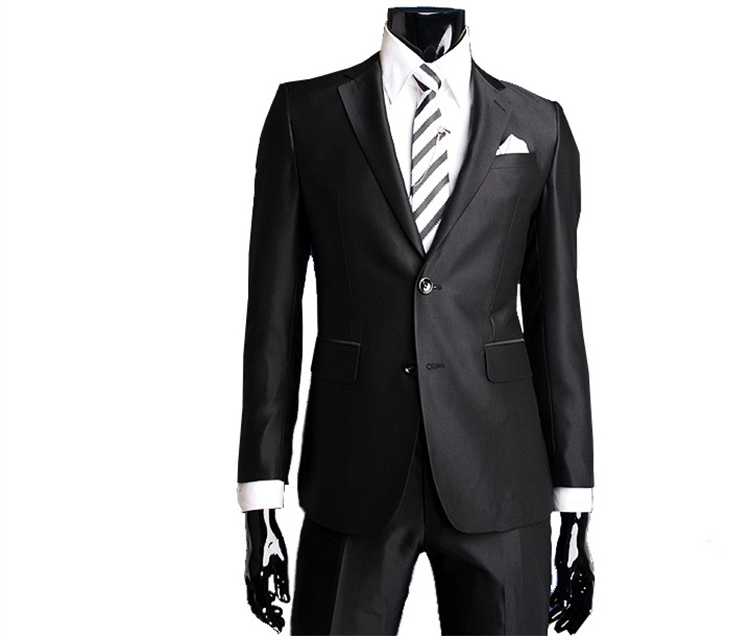 36-Free Shipping New 2015 man suit classic Fashion grooms man suits! Men's Blazer Business Slim Clothing Suit And Pants