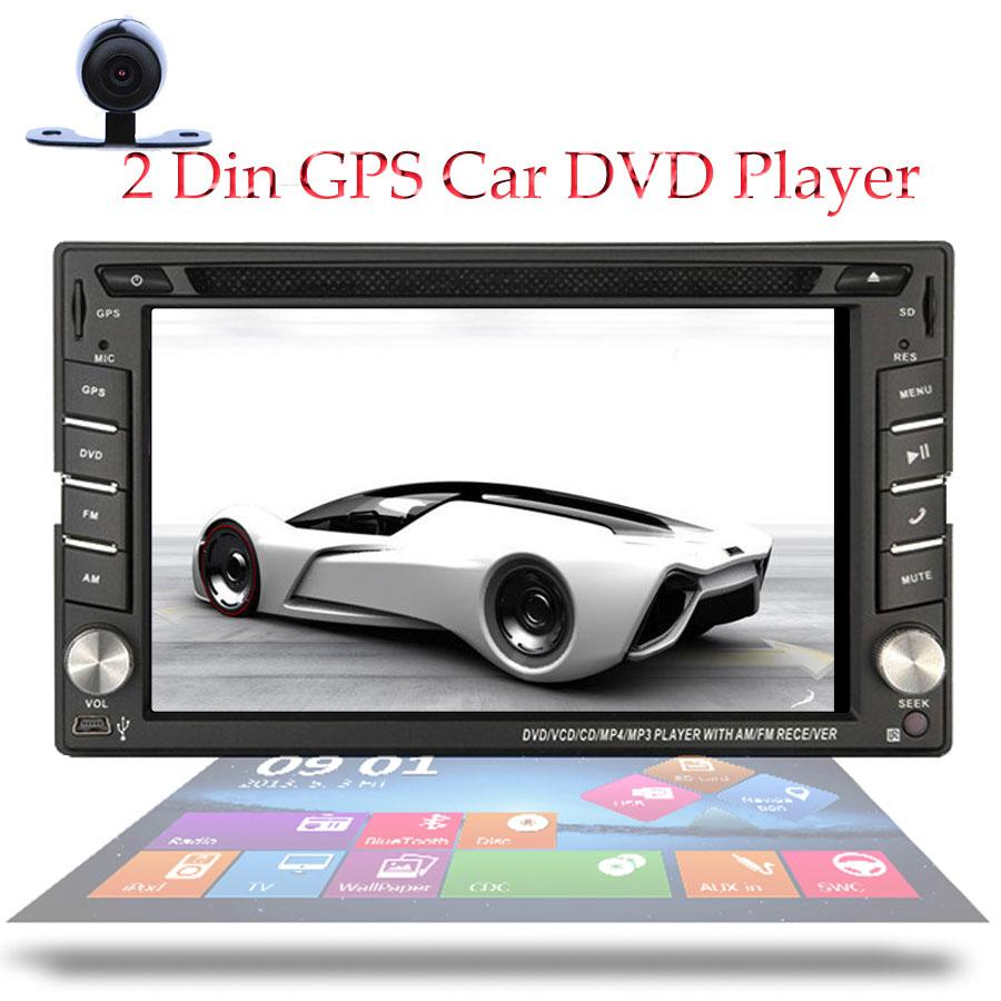 "Free Camera+GPS Card 2 Din Car Radio Monitor Headunit GPS Navigation In Dash Car Stereo 6.2"" HD Touch Screen Car DVD Player(China (Mainland))"