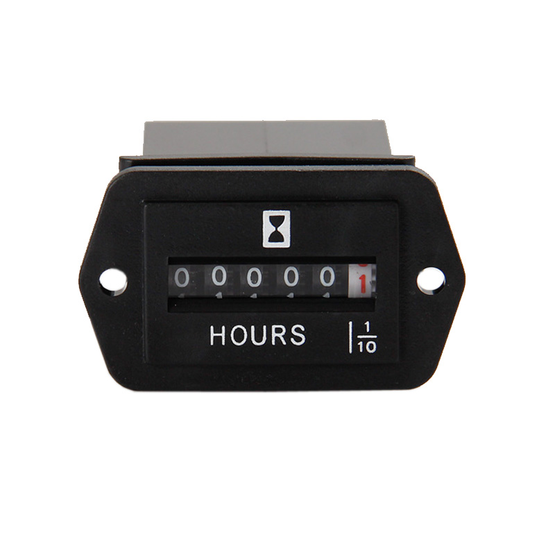 Free Shipping! DC6~50V Industry Hour Meter for marine mill tractors boats forklift trucks lift diesel engine gasoline engine(China (Mainland))