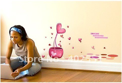 Freeshipping, 220cm*107cm, Wall stickers,Marriage bed decorative stickers,Love your heart,dropshipping,F489(China (Mainland))
