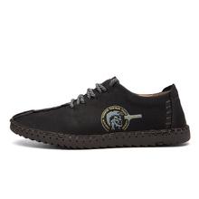 2018 新メンズカジュアル靴ローファー男性の靴の品質分割レザーシューズ男性フラッツホット販売モカシン靴ビッグサイズ(China)