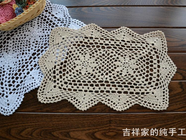 Patrones de manteles a crochet cuadrado - Imagui