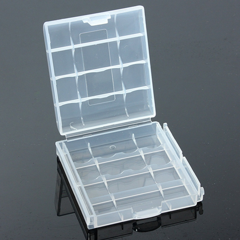 image for New Clear Hard Plastic Case Cover Holder For AA / AAA Battery Storage