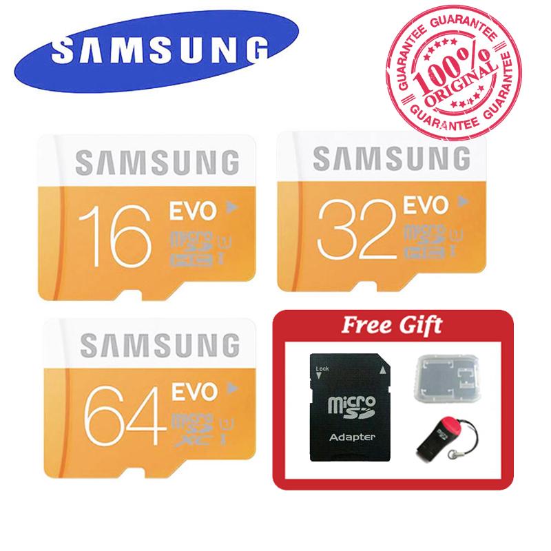 100% Original Samsung EVO micro SD SDHC SDXC TF Class 10 microsd 64GB 32GB 16GB up to 48mb/s Support Official Verification(China (Mainland))