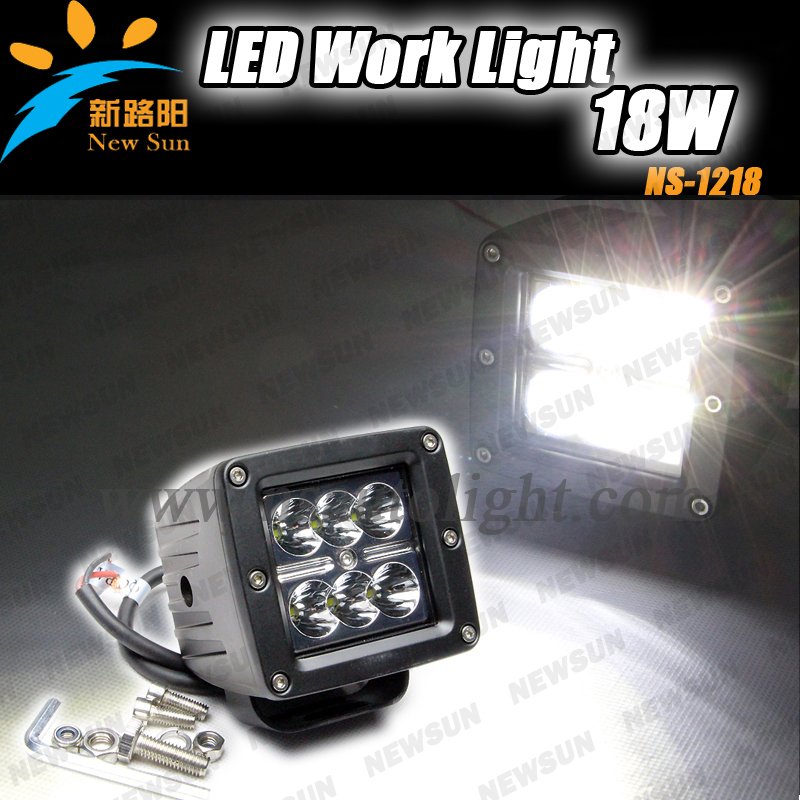 2014 New product CREE 18W 6pcs*3W LED Driving Lights, 10-30V DC Aluminum housing Off road LED Work Light with CE ROHS IP68(China (Mainland))