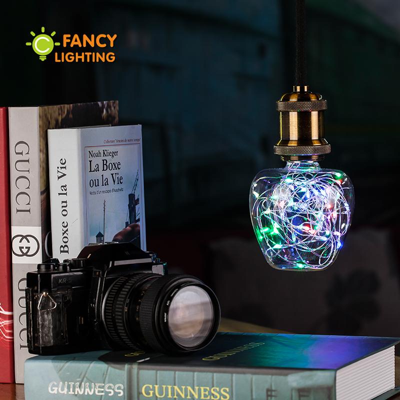 Led bulb Apple rgb led lamp 3w globe Firework light bulb 110v/220v led string light e27 led lampada for home decor & gift lampen(China (Mainland))