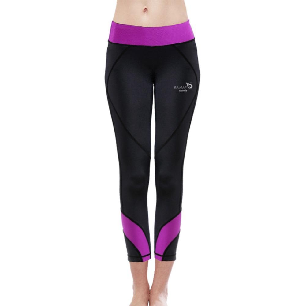 Baleaf New Arrival Women Fitness& Yoga Pants W/ Purple