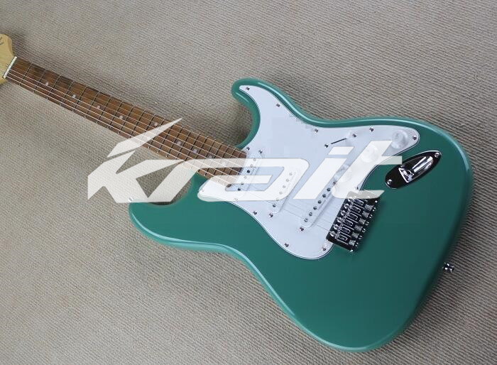 Krait 22 Frets Green Color ST Guitar Rosewood Fingerboard Maple Neck Passive Type Pickups Electric Guitars(China (Mainland))