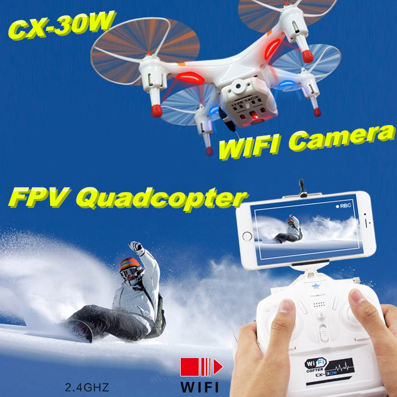 Cheerson CX-30w 4CH 2.4GHz 4-Axis Gyro FPV RC Quadcopter Camera Controller for IOS Android Wifi Real Time Video Drones