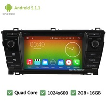 Quad core Android 5.1.1 2Din WIFI FM DAB+ 1024*600 Car DVD Player Radio Stereo PC Audio Screen GPS For TOYOTA Corolla 2013-2015