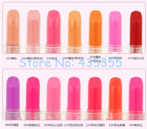 Brand new colorful mini 5.5cm lipstick Fashion Mixed Color long lasting beauty makeup lip balm 14 colors sweet fashion - Shenzhen Gedson Trading Co.,Ltd store