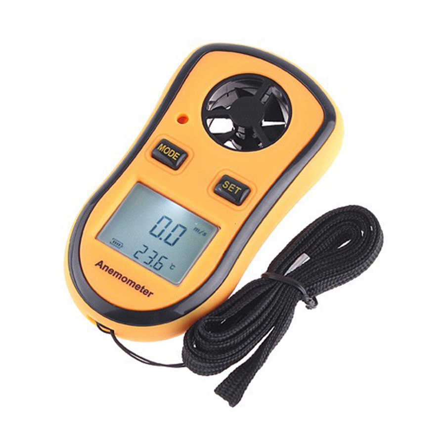Free Shipping Hot Sale Digital LCD Pocket Anemometer Wind Speed Scale Gauge Meter Thermometer GM8908 AS<br><br>Aliexpress