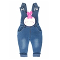 6M 4T Baby Girls Denim Overalls Cute Rabbit Pocket Rompers Infant Toddler Kids Jeans Jumpsuit huarache