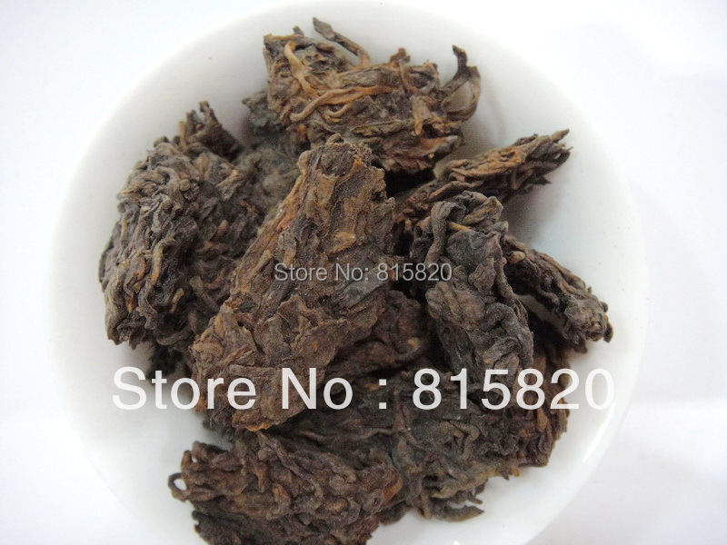 250g old Pu er tea old ripe loose puer tea free shipping