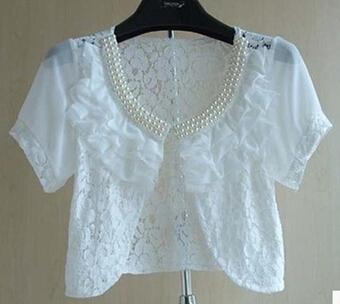 Female Small Cape Summer Thin Sun Protection Clothing Plus Size Short Jacket Lace Shrugs For Women(China (Mainland))