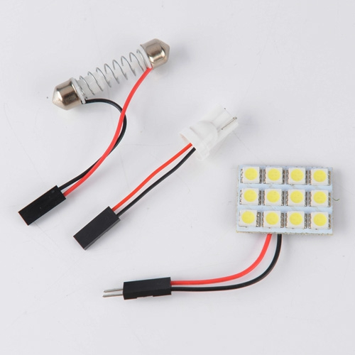 Гаджет  12 SMD 5050 Pure White Light Panel T10 BA9S Festoon car 12 LED Interior Bulb None Автомобили и Мотоциклы