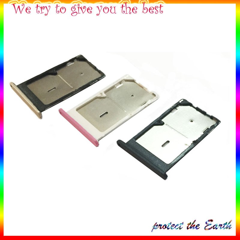 10Pcs/lot, Original New For xiaomi Mi 4C mi4c SIM Card Slot tray holder Repalcement Parts