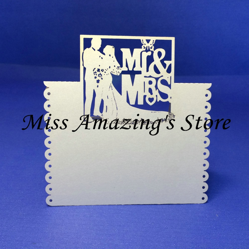 50x MR&MRS Wedding Bridal Shower Dinner Table Place Setting Name Number Cards Party Decorations Favors(Customized Service)(China (Mainland))