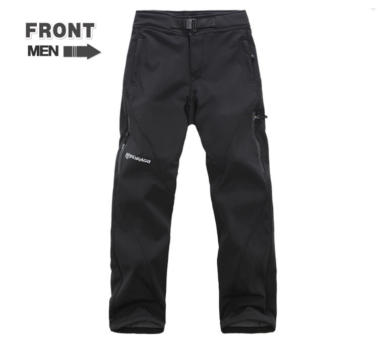Ski Pants Men New Brand Men Outdoor Hiking & Camping Pants Soft Shell Waterproof Windbreaker Trousers Male Inner Fleece(China (Mainland))