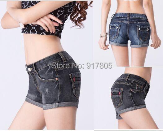 Fashion New 2015 Summer Shorts Large Size Women Flange Casual Slim Middle Waist Washed Denim Jeans - Sherry Fu's store