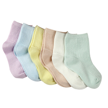 spring summer high quality bamboo fiber breathable mesh children socks for girls and boy solid color brand short socks(China (Mainland))