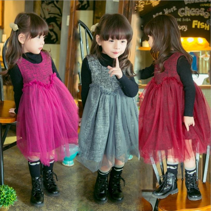 Christmas Girls Childrens Tutu Lace Dress Sleeveless Fashion 2016 New Autumn Winter Party Kids Princess Dresses ZZ-1075<br><br>Aliexpress