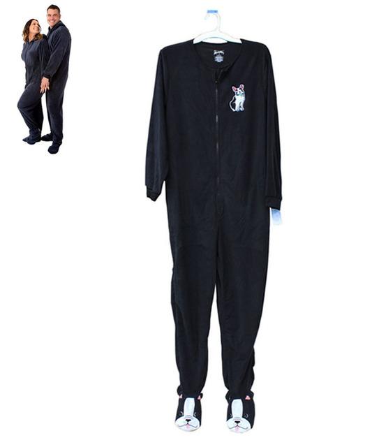 Femmes hommes cartoon broder polaire une pi ce pyjama pour adultes pattes nuit combinaison - Combinaison polaire homme ...