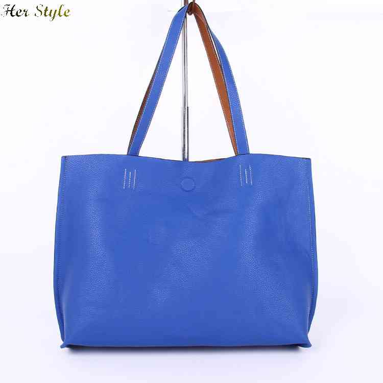 Inventory 20 percent Free Shipping lines both sides of Litchi with bicolor satchel shoulder bag 1430698724(China (Mainland))